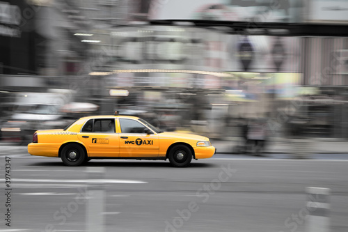 Stickers pour porte New York TAXI New York Taxi