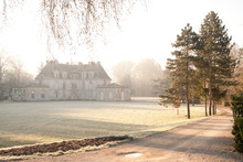 Beautiful Chateau Acquigny In Winter Morning, Normandy