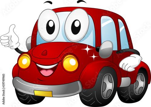 Staande foto Cartoon cars Car Mascot
