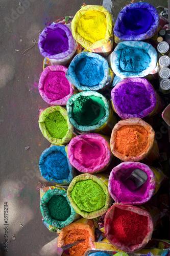 Staande foto India bright Indian colors , Jaipur, Rajasthan , India