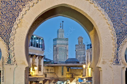 Photo sur Aluminium Maroc Bab Bou Jeloud gate at Fez, Morocco
