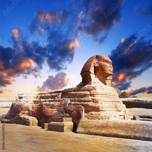 profile of the Great Sphinx , giza egypt - 39755594