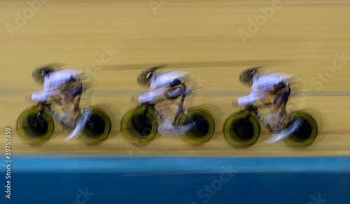 Foto op Plexiglas Fietsen Bicycle racing velodrome