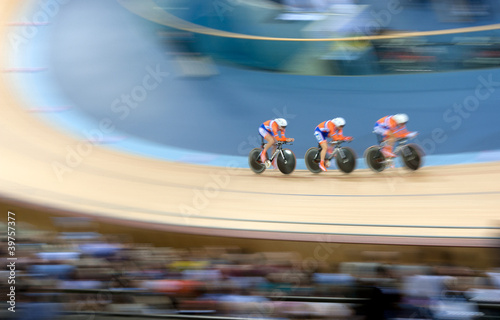 Spoed Foto op Canvas Fietsen Bicycle racing velodrome