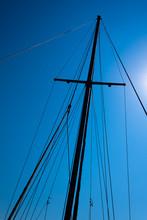 Looking Up At Mast Of Boat
