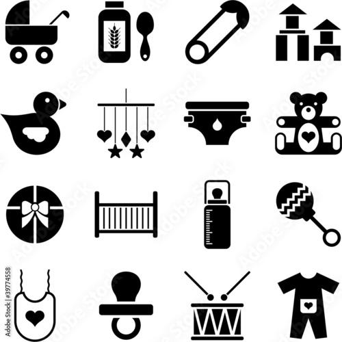 Obraz na plátně Baby icons