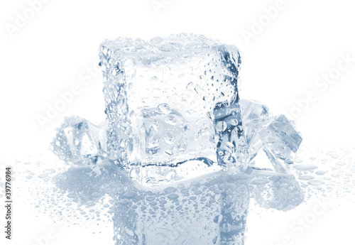 Small And Big Ice Cube With Water Drops Buy This Stock
