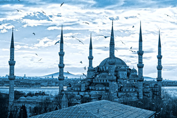 Fototapeta na wymiar The Blue Mosque, Istanbul, Turkey.