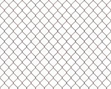 Rusty Chainlink Fence Isolated...