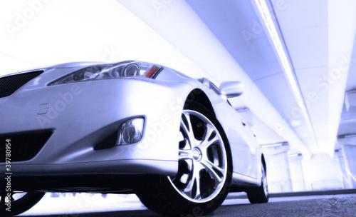 Poster Glisse hiver sport car