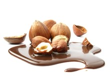 Hazelnuts With Chocolate Syrup