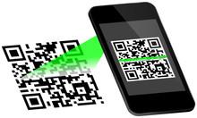 Smartphone Scanning QR-Code Sc...