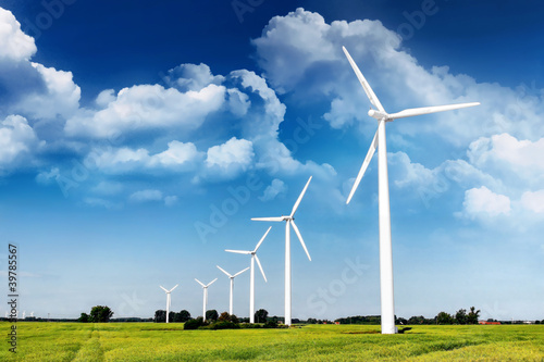 Fotografie, Obraz  Windenergie