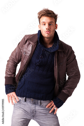 Fotografie, Obraz  attraktiver junger Mann
