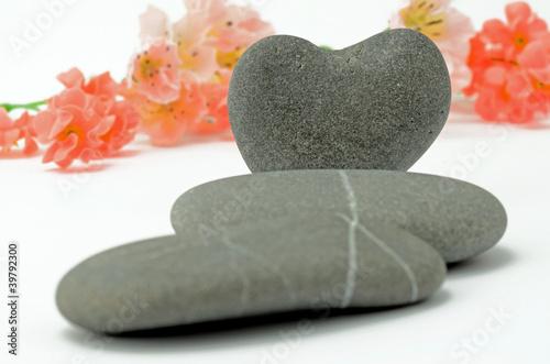 Plissee mit Motiv - Herz aus Stein