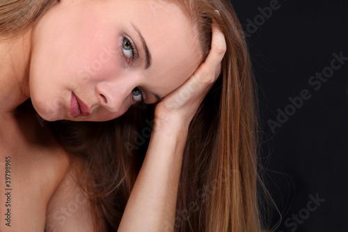 Valokuvatapetti Portrait of a sensual woman