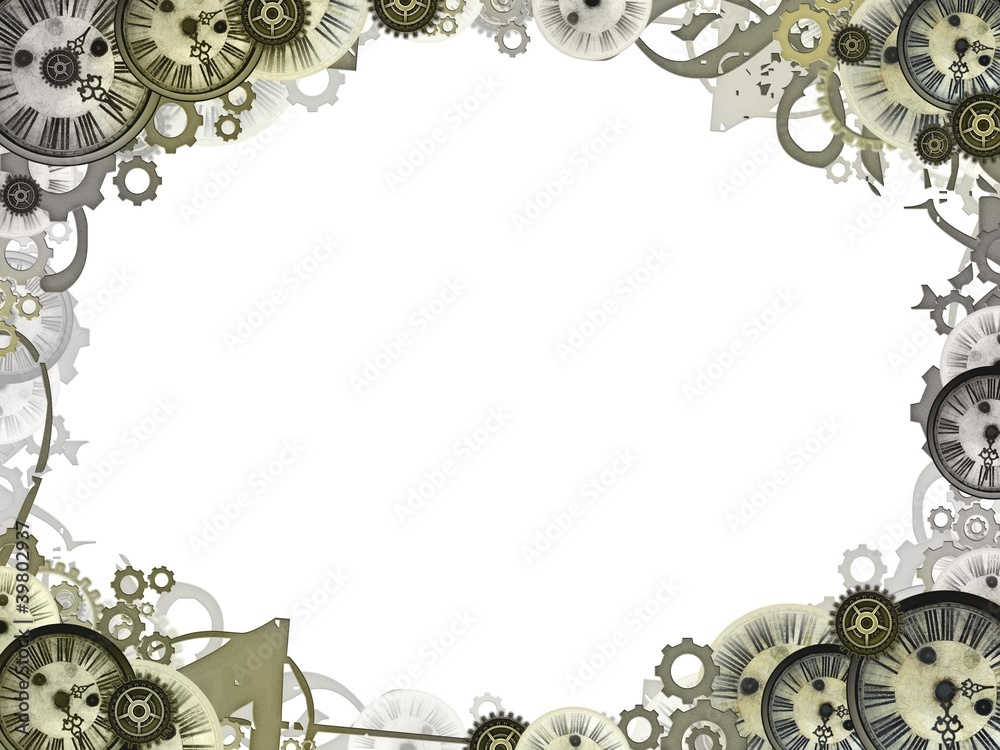 clocks vintage background frame border