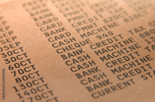 Fototapety, obrazy: Bank statement