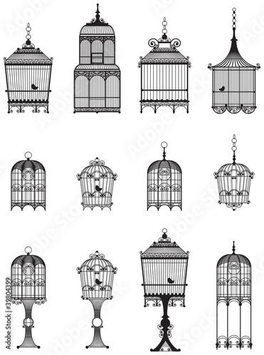 Tablou Canvas Vintage bird cages