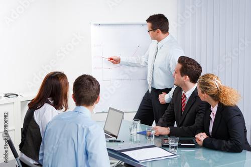Fotografia  seminarleiter mit seinem team