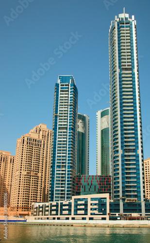 Obrazy na płótnie Canvas Dubai Marina skyscrapers
