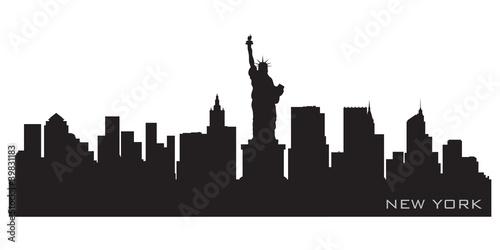 Panoramę Nowego Jorku. Szczegółowa sylwetka wektor