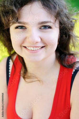 Fotografia, Obraz  Portrait of a beautiful happy woman