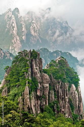 Tuinposter China Huangshan peak