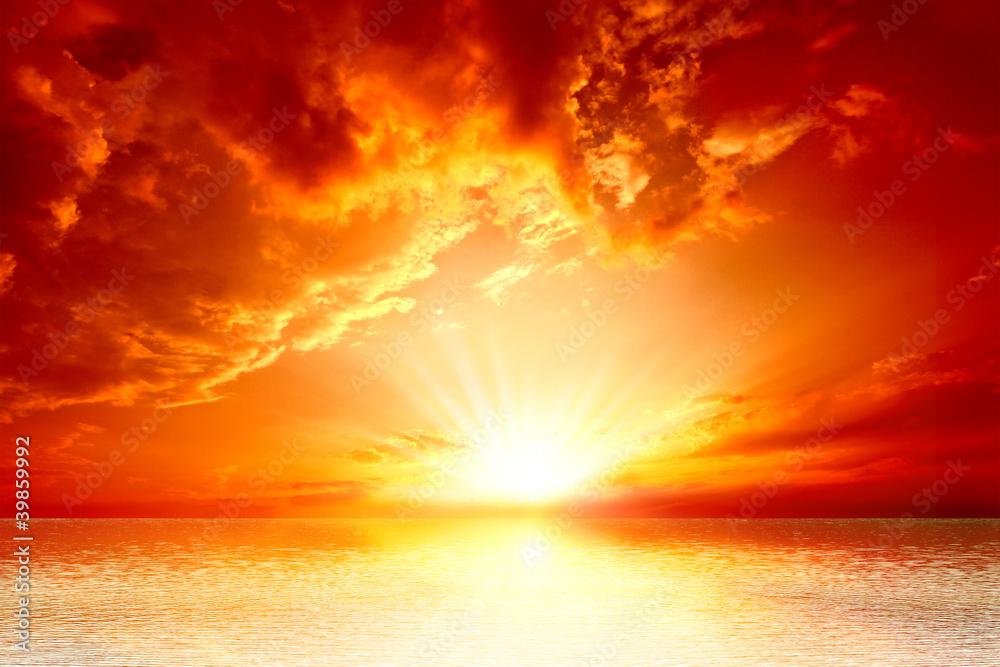 Fototapeta red sunset
