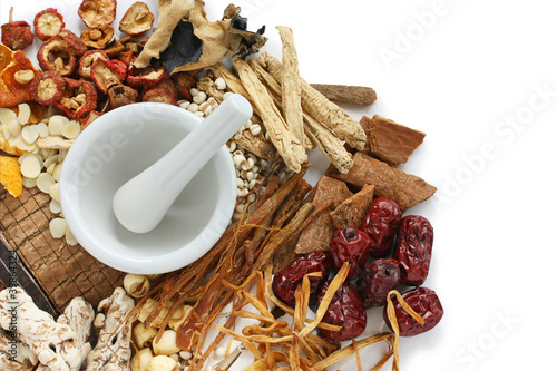 Fotografie, Obraz  chinese food therapy, traditional chinese herbal medicine