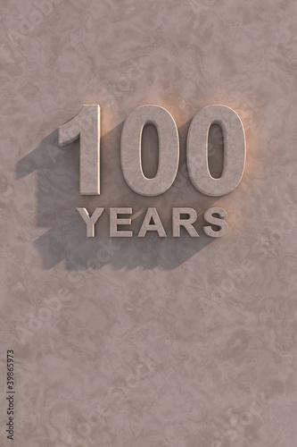 Fotografía  100 years 3d text