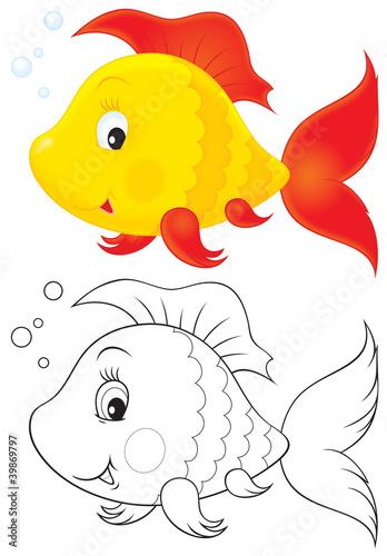 Türaufkleber Zum Malen Toy fish
