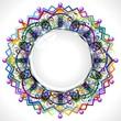 Mandala Cornice Cristallo-Mandala Crystal Frame-Vector