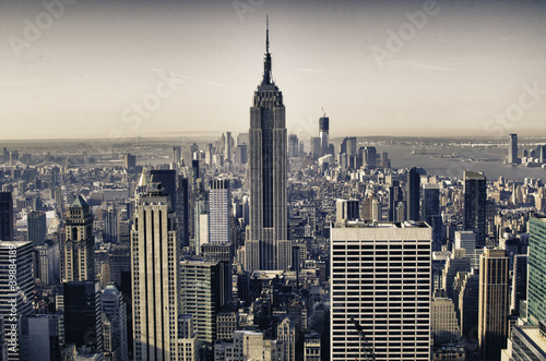 Keuken foto achterwand New York Skyscrapers of New York City in Winter
