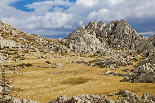 Fotografie, Obraz  Velebit mountain landscape near Tulove Grede