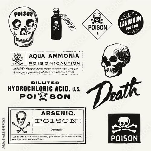 Fototapeta Poison Vintage Labels