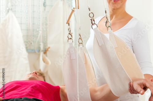 Photographie  Patient bei der Physiotherapie
