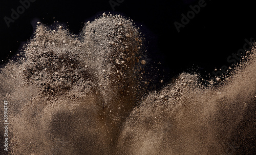 Photo  Sand which flies and bounds