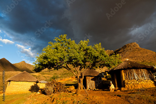 Poster Afrique du Sud Houses in beautiful light