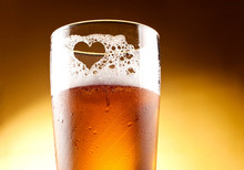 Glass Of Beer With The Heart R...
