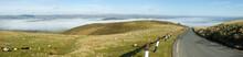 Panorama Narrow Road Welsh Hil...