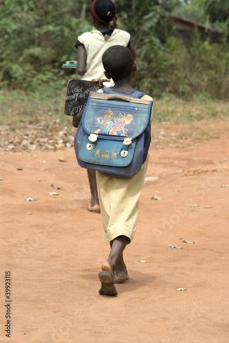 Staande foto Afrika Africa Benin bambini scuola