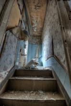 Ruined Bathroom In An Abandone...