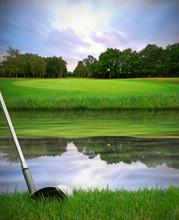 Hitting Golf Ball Over Water Hazard