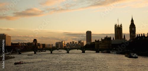 Foto op Canvas Londen London Landscape Westminster and London Eye