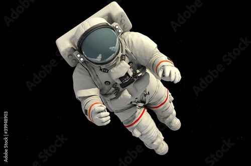 Deurstickers Nasa The astronaut