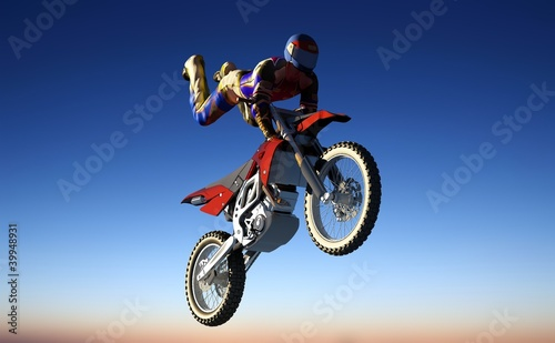 Poster Motocyclette Biking.