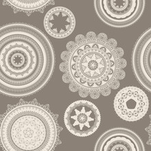 Vector Seamless Pattern With L...