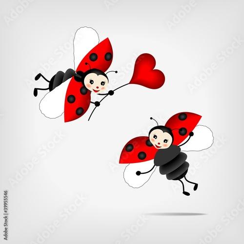 Recess Fitting Ladybugs ladybugs with heart