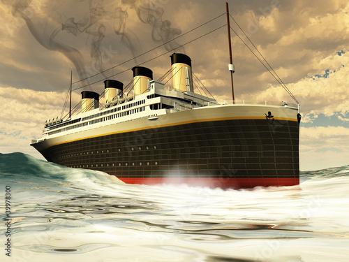 Titanic Ship Canvas Print
